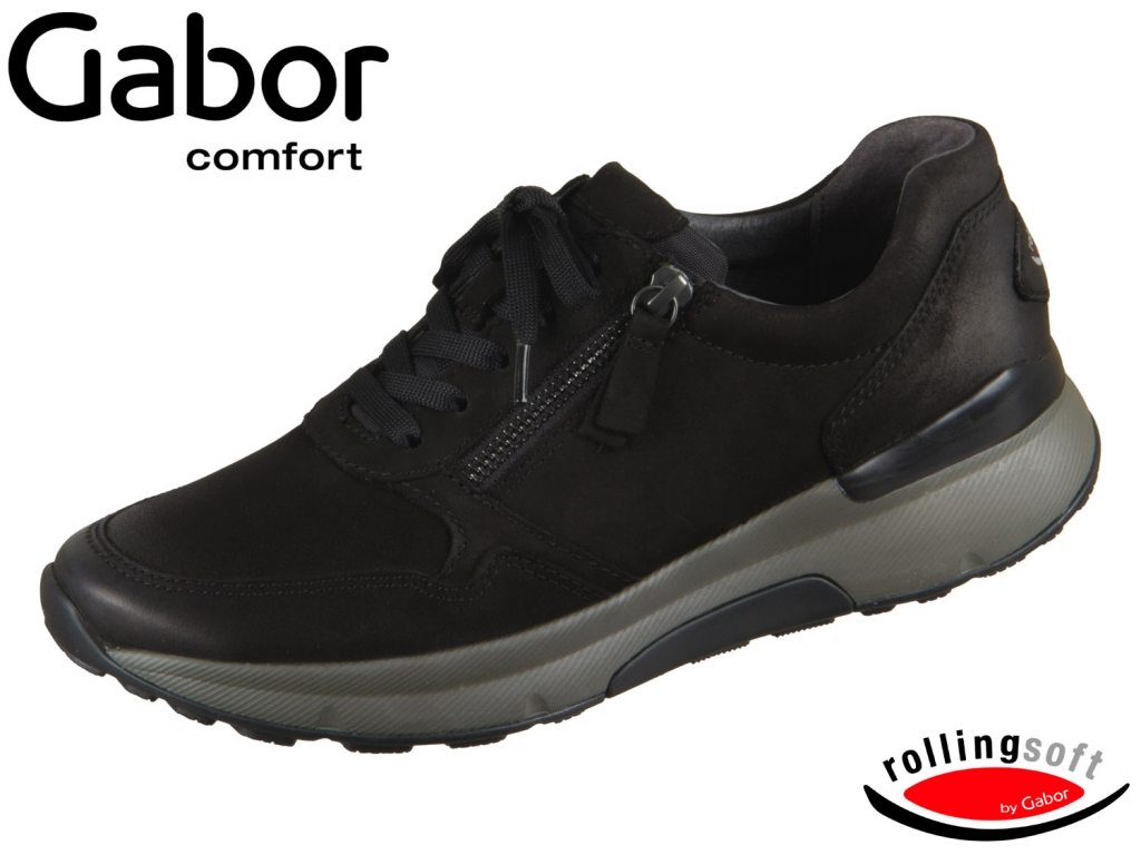 Gabor Rolling Soft 36.905-47 schwarz Nubuk Oil