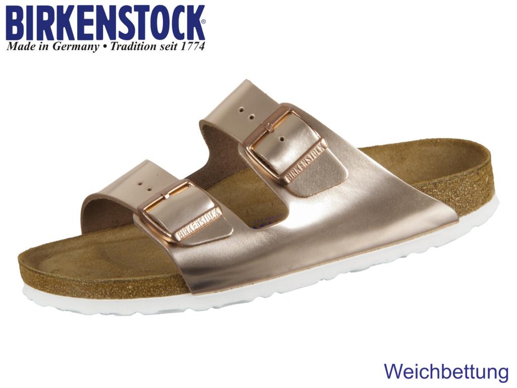 Birkenstock Arizona WB 952093 copper Metallic Leder