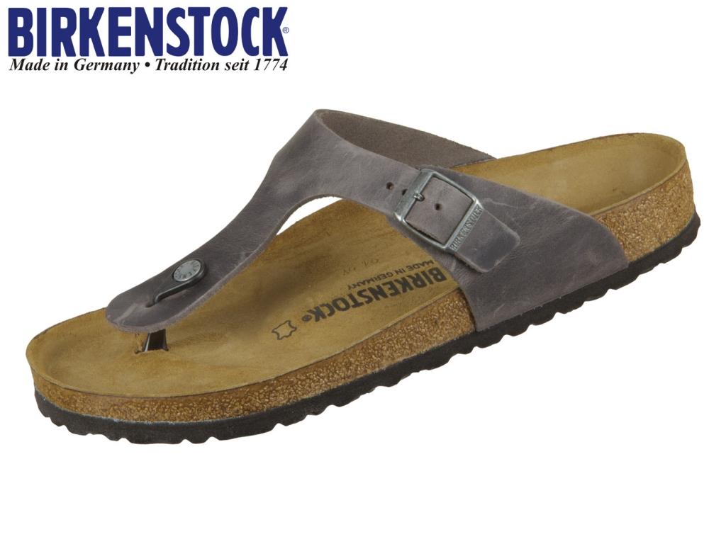 Birkenstock Gizeh 1014272 iron Fettleder Oiled Leather