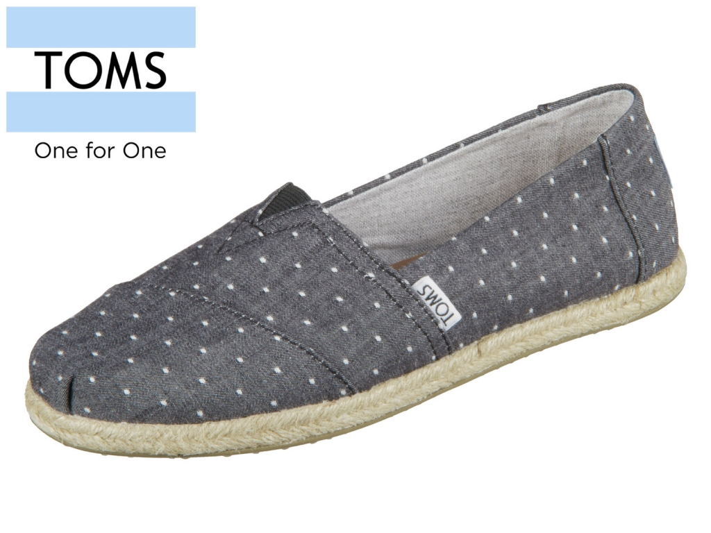 TOMS Alpargata 10011653 black Chambray black dot