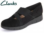 Clarks Daelyn Villa 261026974 black Suede