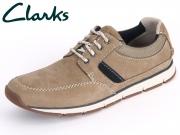 Clarks Beachmont Edge 261060607 taupe Nubuck