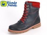 Wanda Panda WP-3901-007 blau rot Leder