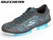 Skechers Ability 14011-CCTQ charcoal turquoise Textile