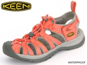 Keen Whisper 1012231 hot coral neutral grey