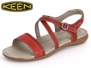 Keen Rose City Sandal 1014337 red dahlia Leder