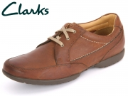 Clarks Recline Out 20353146 tan Leather