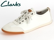 Clarks Mego Race 26113743 white Leather