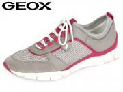 Geox D52F2B 01443 C1010 lt grey Mesh Smooth Leather