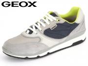 Geox U52A6A-022FU-C1965 ice blue Suede Nylon