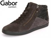 Gabor Rhodos 56.426-49 dark grey Velour Silk Snake