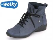Wolky Bello 1574180 blue mistique Nubuck