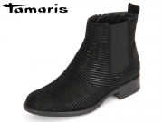 Tamaris 1-25036-27-006 black structure Leder