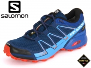 Salomon Speedcross Vario GTX L39054800 blue depth blue yonder lava orange