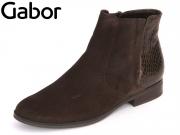 Gabor 51.660-18 mocca bronce Kalbvelour Snake Lynn