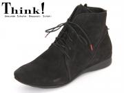Think! WUNDA 87055-00 schwarz Calf Nubuk