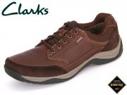 Clarks BaystoneGo GTX 261193577 mahagony Leather