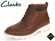 Clarks Korik Rise GTX 261206847 tobacco Leather
