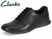 Clarks Tynamo Race 261199087 black Leather