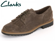 Clarks Griffin Mabel 261217664 khaki Suede