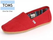 TOMS Classic 10000867 red Canvas