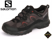 Salomon Fortaleza GTX L39177500 Asphalt Black Radiant Red