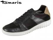 Tamaris 1-23621-28-041 black taupe Leder Textil