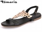 Tamaris 1-28102-28-059 black rose metalic Leder