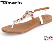 Tamaris 1-28121-28-197 white combi Leather
