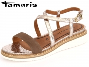 Tamaris 1-28206-28-491 terra platinum Leder Textil