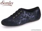 Semler Nele N6106-440-080 midnight blue Samt Chevro Struktur