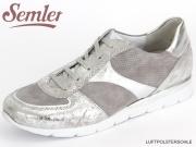 Semler Nelly N8115-580-902 perle chrom silber Metall Crash Samt Chevreau