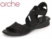 Arche Lactae noir Satia black Calf Nubuck