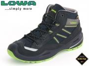 Lowa Simon II GTX 640231 6903-650231-660231 navy-limone Leder-Textil