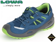 Lowa Simon II GTX Lo 640234 6003-650234-660234 blau-limone Textil-Leder