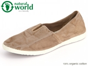 natural world 305E-621 beige enz Baumwolle