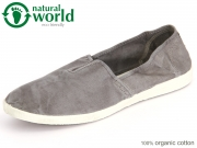 natural world 305E-623 gris enz Baumwolle