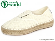 natural world 686-505 white Baumwolle