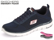 Skechers Flex Advantage 52182-NVRD navy Textil