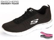 Skechers Flex Appeal 2.0 12757-BKW black Textil