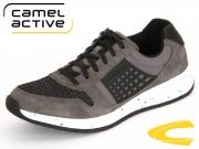 camel active Jump 482.11.02 dark grey-black Oil Suede Meshkombi