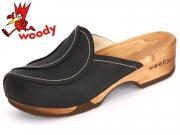 Woody Sofie 6520 nero Fettleder