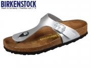 Birkenstock Gizeh 43851 silver Patent Birkoflor