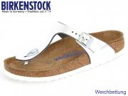 Birkenstock Gizeh WB 1003674 metallic silver Leder