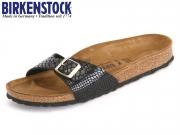 Birkenstock Madrid 1000455 black Shiny Snake Birko Flor