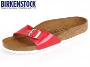 Birkenstock Madrid 1005308 tango red Patent Birko Flor