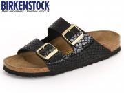 Birkenstock Arizona 1000258 black Shiny Snake Birkoflor
