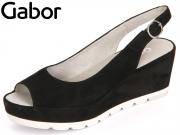 Gabor 65.744-17 schwarz Samtchevreau