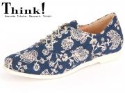 Think! Shua 80036-94 blau kombi Textil Veg Lederfutter
