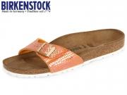 Birkenstock Madrid 1005290 orange Shiny Snake BF